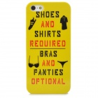 Stylish Patterned Plastic Back Case for Iphone 5 - Yellow