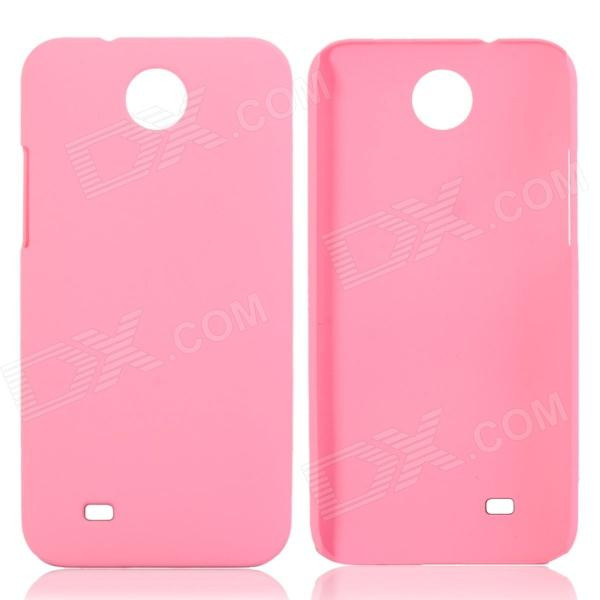 Fashionable Super Thin Protective Glaze PC Back Case for HTC Desire 300 - Pink