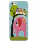 Protective Cute Elephant Pattern Plastic Back Case for Iphone 5 - Light Blue