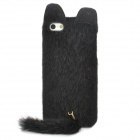 Cute Fox Style Silicone Plush Back Case for Iphone 5 / 5s - Black