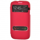 TEMEI PU Leather Case Cover w/ Visual Window / Slide to Unlock for Samsung Galaxy S3 i9300-Deep Pink