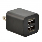 JBL 1309 Dual-USB AC Power Charger Adapter for iPhone / Samsung + More - Black (US Plug / 100~240V)