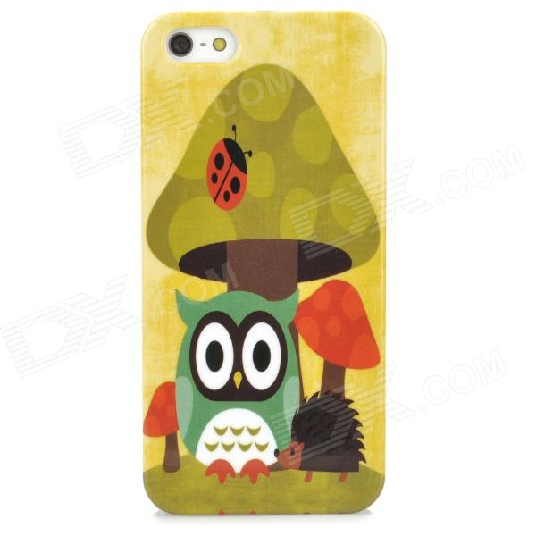 Cute Cartoon Patterned Plastic Back Case for Iphone 5 - Green