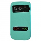 TEMEI PU Leather Case Cover w/ Visual Window / Slide to Unlock for Samsung Galaxy S3 i9300 - Green