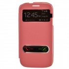 TEMEI PU Leather Case Cover w/ Visual Window / Slide to Unlock for Samsung Galaxy S3 i9300 - Pink