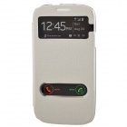 TEMEI PU Leather Case Cover w/ Visual Window / Slide to Unlock for Samsung Galaxy S3 i9300 - White