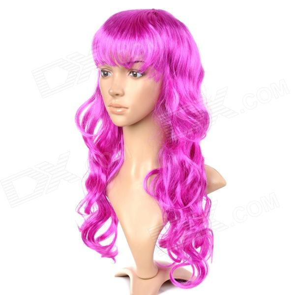 Universal Festival Party Fashion Long Curly Hair Wigs - Purple 8 colours colorful curly hair party cosplay long wavy wigs