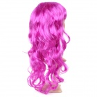 Universal Festival Party Fashion Long Curly Hair Wig - Deep Pink