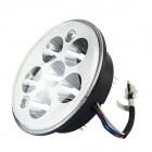 18W 1620lm 8-LED White Light Motorcycle Headlamp w/ Two Colorful Angel Eye - (DC 12V)
