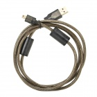 USB 2.0 A Male to Mini 5P T type Extenison Adapter Cable - Black