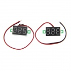 "Navo DIY 0.36"" 3-Digit Red LED Digital Voltmeter - Green + Black + White (3.2~30V / 2 PCS)"