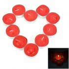 Strawberry Smell Round Shaped Paraffin Candle - Red + Silver (10 PCS)