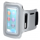 Sports Gym Neoprene Armband Case for IPOD Nano 7 - Antique Silver + Black