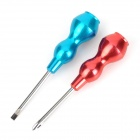 WLXY WL-2701 Gourd Style Aluminum Handle Slotted + Phillips Screwdrivers Set - Red + Blue