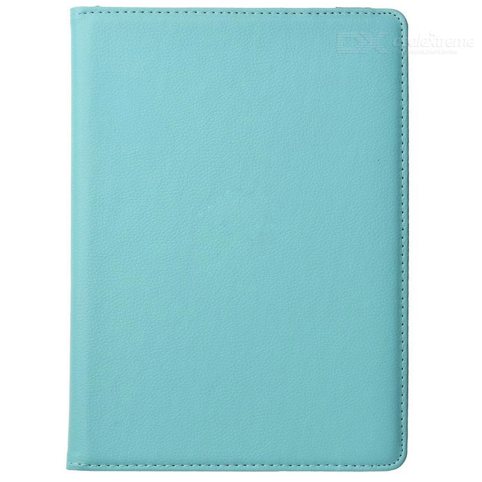 Protective 360 Degree Rotation PU Leather + Plastic Case w/ Auto Sleep for Ipad AIR - Light Blue