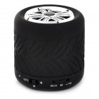 Stylish Wheel Style Bluetooth V2.1 Bass Speaker w/ Handsfree Call / TF / AUX - Black