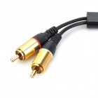FP 1-a-2 3.5 mm hembra a Cable RCA macho adaptando 2-CH - negro