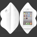 3D Sexy Lip Style Silicone Back Case for Iphone 4 / 4S - White