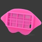 3D Sexy Lip Style Silicone Back Case for Iphone 4 / 4S - Deep Pink