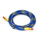 Fiber Optic Male to Male Connection Cable - Sapphire Blue + Golden (2m)