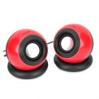 Appvei HT103 USB Powered Desktop Hi-Fi Speakers Set - Red + Black + Silver