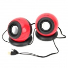 Appvei USB Powered Desktop Hi-Fi Speakers Set - Red + Black + Silver