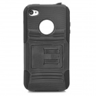 Protective PC Silicone Back Case for Iphone 4 / 4S - Black