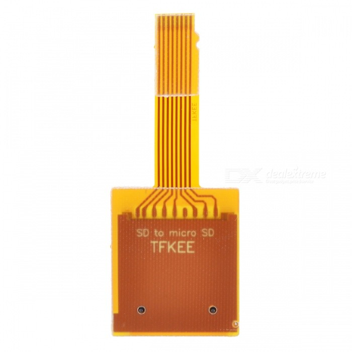 SD to MicroSD / TransFlash TF Card Converter Module - Yellow + White