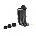Universal Spring Cable In-Ear Earphone - Black + Golden (3.5mm Plug / Max. 1.2m)