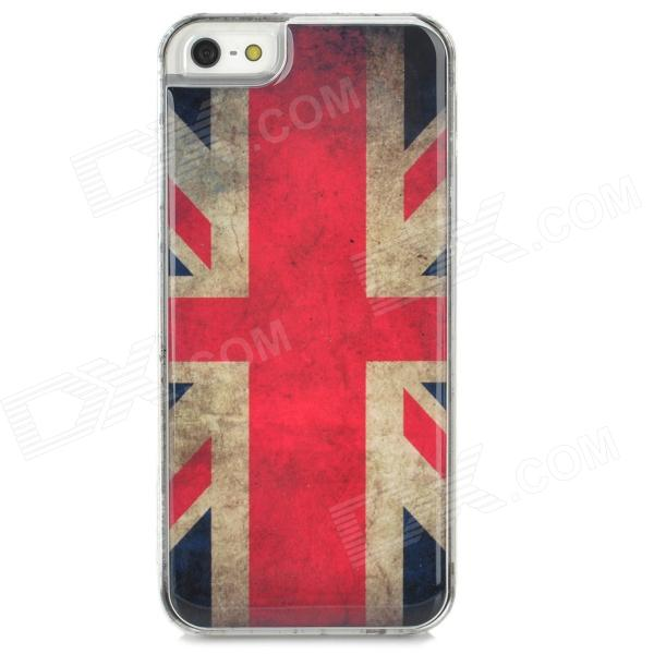 UK Flag Pattern Epoxy Dripping Plastic Back Case for Iphone 5 / 5s - White + Red + Multicolored suck uk