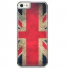 UK Flag Pattern Epoxy Dripping Plastic Back Case for Iphone 5 / 5s - White + Red + Multicolored