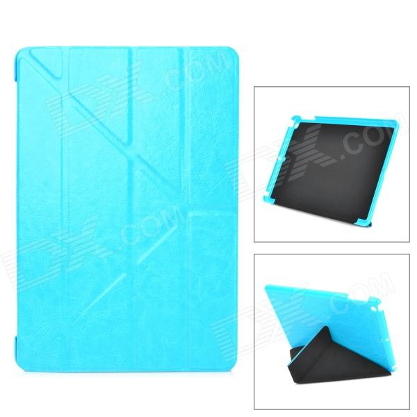 Protective PU Leather + PC Case w/ Auto Sleep for Ipad AIR - Light Blue statue of liberty pattern protective pu pc case w stand auto sleep for ipad air red blue