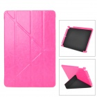 Stilvoller Schutz PU-Leder + PC Fall w / Auto-Sleep für Ipad AIR - Deep Pink