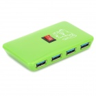 4-Port USB 3.0 HUB w/ Switch Control - Green