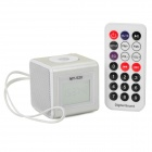 "SuoChao MY-520 1.4"" LCD Mini Portable Media Player Speaker w/ TF / USB - Silver + White"