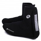 NUCKILY EDD02  High-Top Outdoor Cycling Windproof Warm Shoe Covers - Black (Pair)