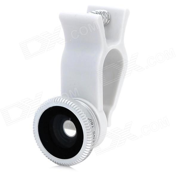 U002 Universal Clip-On 3-in-1 Wide Angle + Macro + Fish Eye Lens for Iphone / Samsung / HTC - Silver