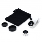 U002 Universal Clip-On 3-in-1 Wide Angle + Macro + Fish Eye Lens for Cell Phone / Pad