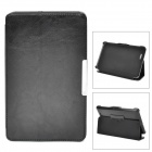 Protective PU Leather Case w/ Auto Sleep for Asus ME172 - Black