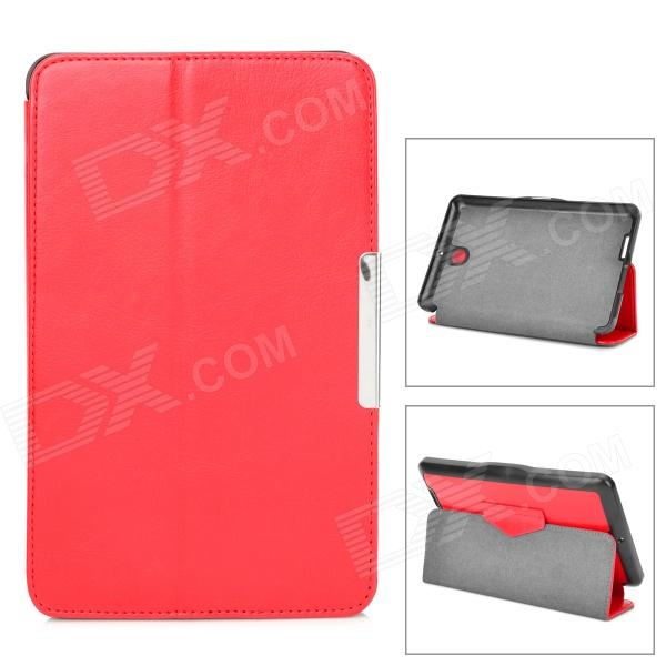 Protective PU Leather Case w/ Auto Sleep for Asus ME371MG - Red