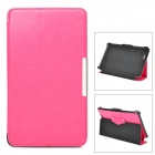 Protective PU Leather Case w/ Auto Sleep for Asus ME172 - Deep Pink
