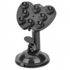 20736 Universal 360' Rotating Suction Cup Desktop ABS Holder for Cellphone / GPS / Ipad - Black