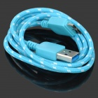 USB 3.0 Male to Micro 9-Pin Male Data Cable for Samsung Note 3 - Light Blue + Multicolored (100cm)
