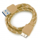 USB 3.0 Male to Micro 9-Pin Male Data Cable for Samsung N9000 - Yellow + White + Multi-Colored