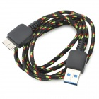 USB 3.0 Male to Micro 9-Pin Male Data Cable for Samsung N9000 - Black + Silver + Multi-Colored