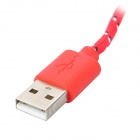 USB 3.0 Male to Micro 9-Pin Male Data Cable for Samsung N9000 - Red + Multi-Colored