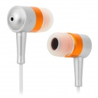 SEO8 ABS + Aluminum Alloy 3.5mm Plug In-ear Stereo Earphone - Golden + Silver Grey