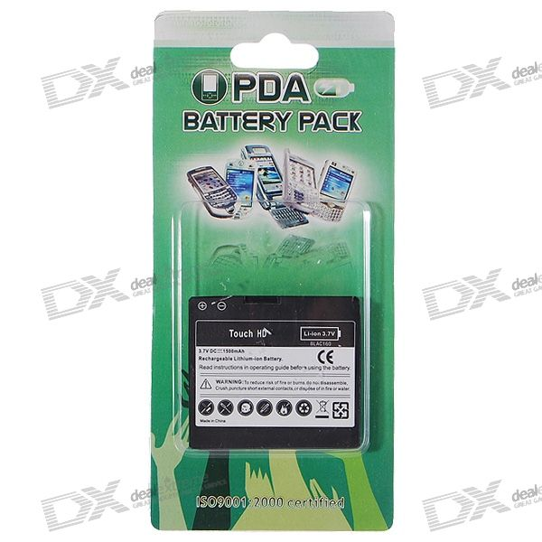 3.7V 1500mAh Lithium Battery Pack for HTC Touch HD replacement 3 7v 1500mah cellphone battery with charger for htc desire hd