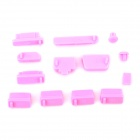 Protective Silicone Anti-Dust Plug Stopper Set for Laptop - Pink (13 PCS)