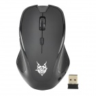 JiTe 2.4GHz Wireless 1000 / 1600 / 2000 DPI Optical Mouse - Black